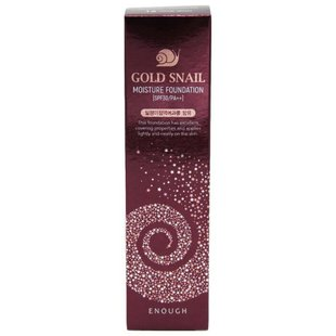 Enough Тональный крем Gold Snail Moisture Foundation SPF 30 100 мл